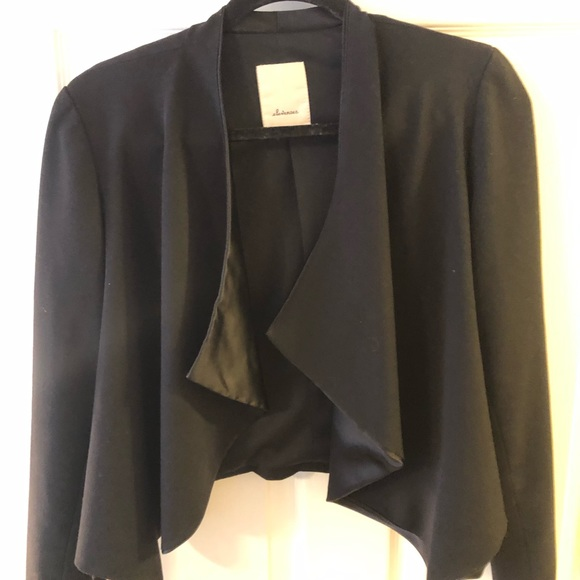 elevenses Other - Cropped black blazer with satin lapels.